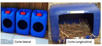 modelo de nidos para aves